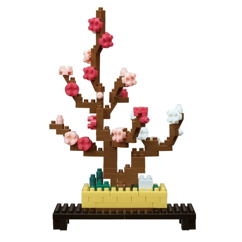 Plum Bonsai Nbh 134 Nanoblock The Japanese Mini Construction Block Sights To See Series