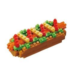 Hot Dog (garni) NBC-218 NANOBLOCK mini bloques de construction...