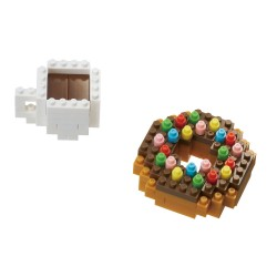Donut et café NBC-246 NANOBLOCK mini bloques de construction...