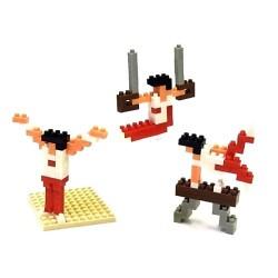 Gymnastique NBCB-005 NANOBLOCK, mini bloques de construction...