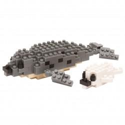 Phoque tacheté NBC-133 NANOBLOCK, mini bloques de construction...