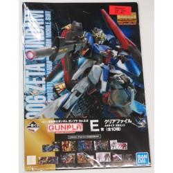 GUNDAM folder clear file (set of 2) with MSZ-006 Zeta Gundam