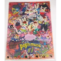 Fichier clair de dossier POP'N MUSIC (lot de 2) avec konami...
