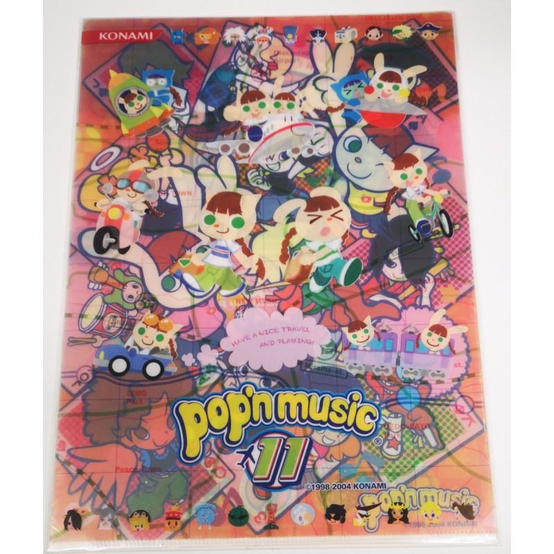 POP'N MUSIC folder clear file with konami pop'ncafe pop'nmusic   Mini Japan  Shop EU