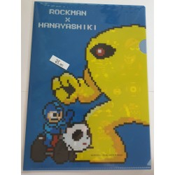MEGAMAN Mappe Klarsichtfolie Ordner (Einzeln) mit Rockman, yellow...