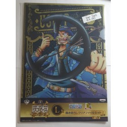 ONEPIECE folder clear file (set of 2) with Usopp (blue)