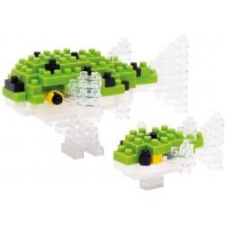 Poisson-globe tacheté vert NBC-085 Nanoblock Miniature series