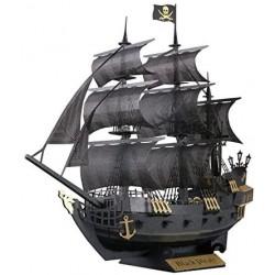 Schwarzes Piratenschiff PN-124 Paper Nano