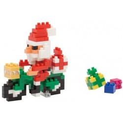 Der Weihnachtsmann am Fahrrad NBC-126 NANOBLOCK der japanische mini...
