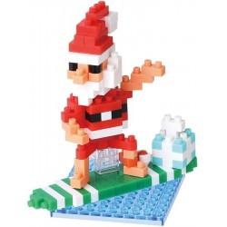 Surfender Weihnachtsmann NBC-153 NANOBLOCK der japanische mini...