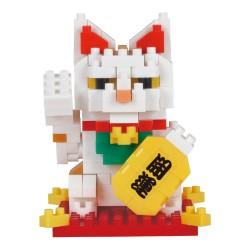 Maneki Neko chat porte bonheur blanc (nouvelle ver.) NBC-331...