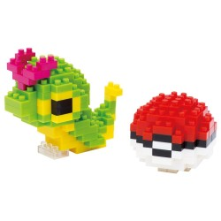 nanoblock Pokemon Caterpie & Monster Ball NBPM-010