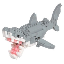 Grand Requin Blanc (nouvelle ver.) NBC-332 NANOBLOCK mini bloques...