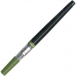 Olive Green Art Brush Pen, Dye Ink, refillable | XGFL-115 by Pentel