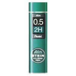 2H ø 0.5mm - lot de 40 mines de rechange porte-mines AIN STEIN...