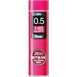 HB soft ø0.5mm - Set of 40 Leads for Mechanical Pencils - AIN STEIN...