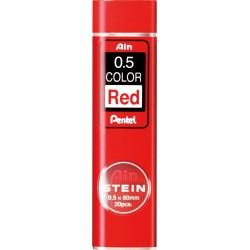 couleur rouge ø0,5mm - lot de 20 mines de recharge porte-mines 0,5...