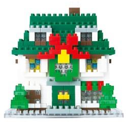 La maison de Noël NBH-034 NANOBLOCK mini bloques de construction...