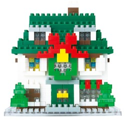 X'mas House NBH-034 NANOBLOCK the Japanese mini construction block...