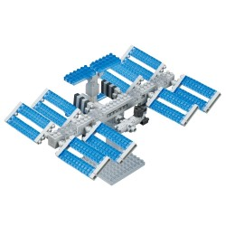 NANOBLOCK Sights to See series: Space Station NBH-129